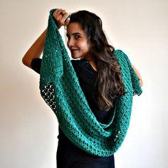 Pretty green lace shawl   --- crochet crochet and crochet away :)