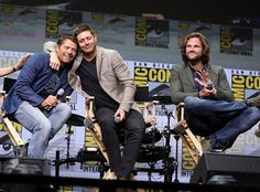 SDCC 2017 Supernatural panal.. Misha, Jensen and Jared..