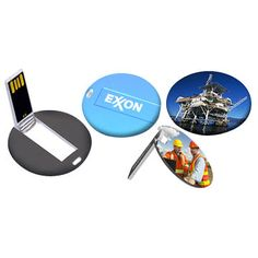 Customized round card USB flash for promotion