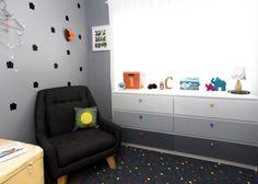Gray Ombre Ikea Dresser Hack - perfection in a modern, funky nursery! #ikeahack