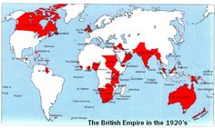 During this time period, the British Empire held a substantial position in world power. Canada, New Zealand, and Australia remained and part of the British Empire and relied on the British economy. European culture prevailed in all three of these colonized areas.