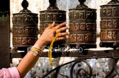 Spinning The Prayer Wheels In Nepal