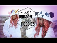DIY Unicorn and Panda Hoodie {Halloween Costume} | Ann Le Style