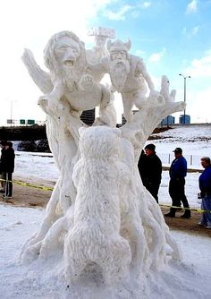 snow sculpture 2005