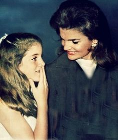 """Jacqueline """"Jackie"""" Lee Bouvier Kennedy Onassis and her daughter Caroline Kennedy"""