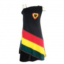 Rasta Hearts Fashion Diagonal Single Shoulder Workout Bag