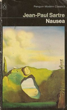 Jean-Paul Sartre - Nausea Penguin Books 2276 Published reprinted 1975 Cover: 'The Triangular Hour' by Salvador Dali Best Book Covers, Book Cover Art, Book Cover Design, Book Art, Penguin Books, Jean-paul Sartre, Books To Read, My Books, Penguin Modern Classics