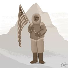 Today's Black History Month illustration is of Matthew Henson the first African American Arctic explorer. Along with Robert Peary Henson was a part of the small group considered to be the first to reach the geographic North Pole in 1909. #blackhistorymonth