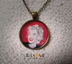 Items similar to Graphic original art digital vector drawing pendant on chain - Marilyn Monroe on Etsy