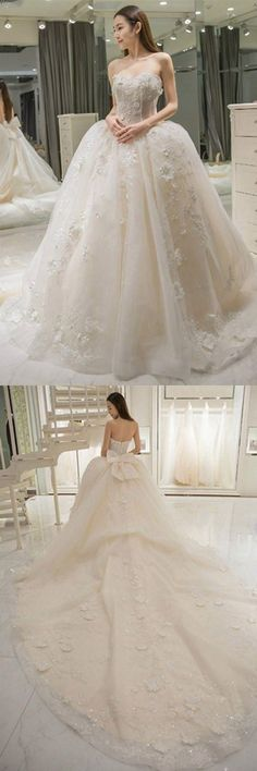 A-Line Wedding Dresses #A-LineWeddingDresses, Wedding Dresses Cheap #WeddingDressesCheap
