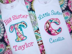 Big Sister Little Sister Shirt  Big Brother by sweettulipsboutique, for Big Sis Sophia and Lil sis Olivia