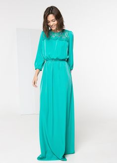 Mode-sty: One and Done: Solid Maxi Dress Finds Mint Dress, Maxi Wrap Dress, Maxi Dress With Sleeves, Dress Up, Sleeve Dresses, Vestidos Color Menta, Style Kimono, Turquoise Dress, Modest Dresses
