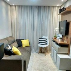 Home Decorating Trends 2018 Key: 6927774463 Small Apartment Layout, Sala Grande, Loft House, Living Room Tv, My Furniture, Interior Decorating, Interior Design, Apartment Interior, Home Fashion