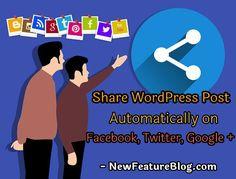 WordPress JetPack Plugin की मदद से आप नए पोस्ट को social media पर automatic share कर सकते है. यह plugin WordPress blog पर publish होने वाले नए पोस्ट को सभी social networking sites पर automatically share कर देगा. इससे समय की भी बचत होगी.