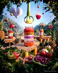 25 Creative and Mind-Blowing Foodscape Advertisements by Carl Warner Ads Creative, Creative Posters, Creative Photos, Food Advertising, Creative Advertising, Advertising Design, Web Design, Food Design, Carl Warner