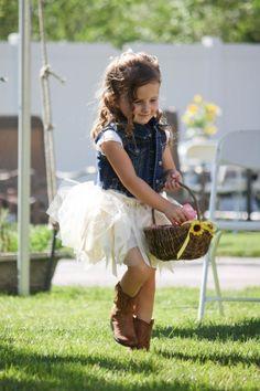 7 yr old flower girl tutu cowboy boots - Google Search