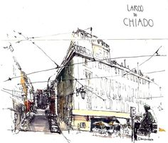 Urban sketchers: unity is strength architectural n interior Inspiration Artistique, Sketch Inspiration, Sketch Painting, Watercolor Sketch, Line Drawing, Drawing Sketches, City Sketch, Interior Rendering, Urban Sketchers
