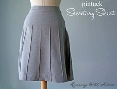 DIY Secretary Skirt - FREE Sewing Tutorial