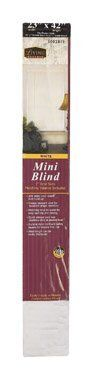 """BLIND MINI VINL23X42 WHT [Misc.] by Lotus. $3.66. """"LIVING ACCENTS"""" VINYL MINI BLINDS  No lead formula   Easy to install, clean and shorten   Hardware included   Boxed   23""""W x 42""""L   White"""