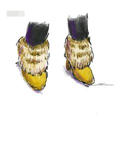 Boots hairy. It is a sketch drawn by using the GALAXY Note in the commuter train.