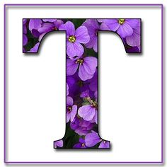 """Free Scrapbook Alphabet Letters """"Purple Flowers"""" in JPG & PNG For this project I used my own alphabet """"A,"""" a Photoshope font, and a backg. Decorative Alphabet Letters, Printable Alphabet Letters, Flower Alphabet, Alphabet Art, Alphabet And Numbers, Letter Art, Wooden Letters, Alphabet Fonts, Fancy Letters"""