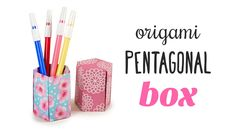 Learn how to make a pentagonal five sided origami pot, this tall origami box is great for pencils, makeup brushes, a vase cover or a gift box, you can make a...