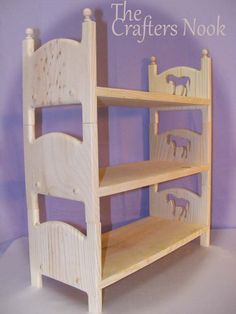 "Horse Triple Bunk Bed 3 Stackable American Girl Doll Beds 18"" Furniture"