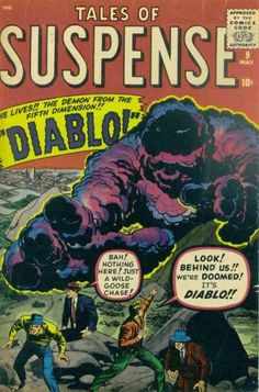 Tales of Suspense - I Saw Diablo! The Demon From The Fifth Dimension! Sci Fi Comics, Old Comics, Horror Comics, Marvel Comic Books, Comic Movies, Comic Books Art, Creepy Comics, Vintage Comic Books, Vintage Comics