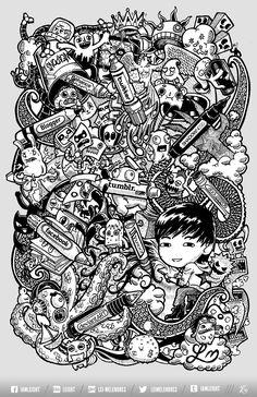 Doodle Social Pens by lei-melendres.deviantart.com on @deviantART