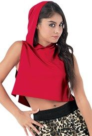 Hooded Sleeveless Crop Top