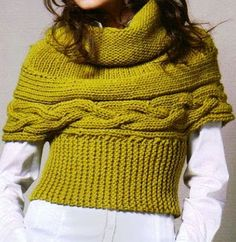Gilet ~ useful re sizing etc Knit Shrug, Knitted Cape, Knitted Shawls, Knit World, Bunt, Knitwear, Knitting Patterns, Knit Crochet, Clothes