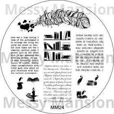 Nail Art Stamping Image Plate MM24  Scriptorium