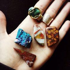 Morgan Hill Poppy Jasper and Peacock Ore stones
