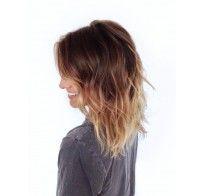 Degradé hair con onde