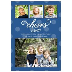 Polka Cheers Holiday Photo Cards | PaperStyle