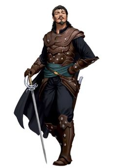 m Rogue Arcane Trickster Studded Leather Armor Cloak Rapier Dagger male urban City Keith lg Character Design Animation, Fantasy Character Design, Character Design Inspiration, Character Concept, Girls Characters, Dnd Characters, Fantasy Characters, Male Character, Character Portraits
