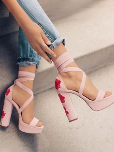 12 Chic Style Shoes You Need Right Now For This Season Latest Summer Shoes Collection. Lovely Look & design. The Best of high heels in Fancy Shoes, Pretty Shoes, Beautiful Shoes, Gorgeous Heels, Crazy Shoes, Aesthetic Shoes, Cute Heels, Lace Up Heels, Fashion Heels