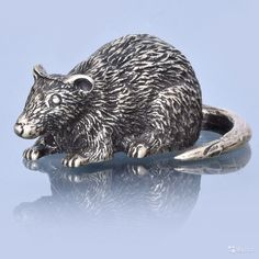 """Бронза сувенир """"крыса"""", арт. 0023923 Размер:   Высота - 1 см  Длина - 3 см, купить в Москве на Avito — 480 руб."""