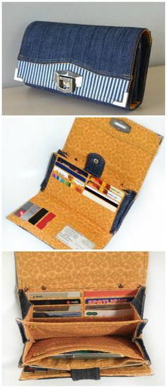 90a64c4fec1 Penny Inn Wallet sewing pattern by Chris W Designs. Bag Patterns To Sew