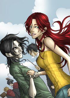 Lily, Severus & Marauders by ~Honeyeater on deviantART