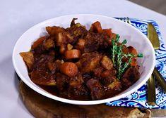 Stew banner Tinned Tomatoes, Lamb Stew, Fresh Thyme, Worcestershire Sauce, Tomato Paste, Mustard, Carrots, Garlic, Potatoes