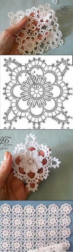 Latest Free Crochet Doilies ideas Strategies Very lacy floral crochet square motif Crochet Square Patterns, Crochet Motifs, Crochet Squares, Thread Crochet, Crochet Granny, Crochet Doilies, Crochet Flowers, Crochet Lace, Granny Squares