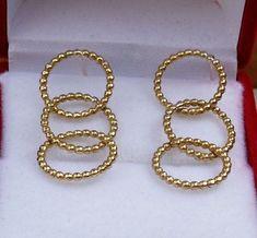 Gold Chandelier Earrings 14K Yellow Gold Chandelier by TalyaDesign