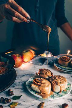 Apple Cinnamon Rolls (vegan) by black.white.vivid.