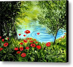 Monte Rio Poppies Canvas Print / Canvas Art By Elizabeth Robinette Tyndall