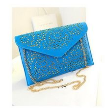 Hot Fashion Women Cutout Handbags European and American Style Hollow Out Shoulder Bags Day Clutches Lady(China (Mainland))