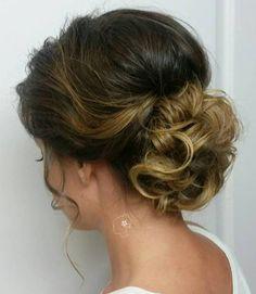 Curly Chignon Updo