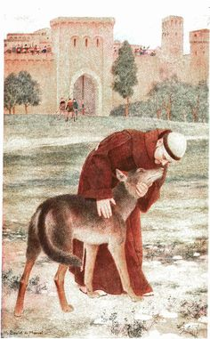 St. Francis taming the wolf of Gubbio, from The Century magazine, 1912