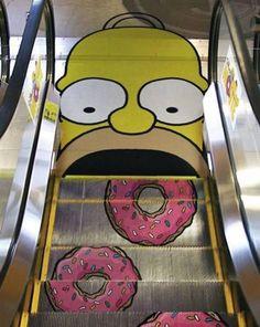 Doughnuts on Escalator