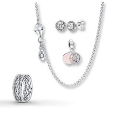 4eeab8884 Pandora Necklace Earrings Ring Classic Love for Mother Gift Set Sterling  Silver #PANDORA #Traditional